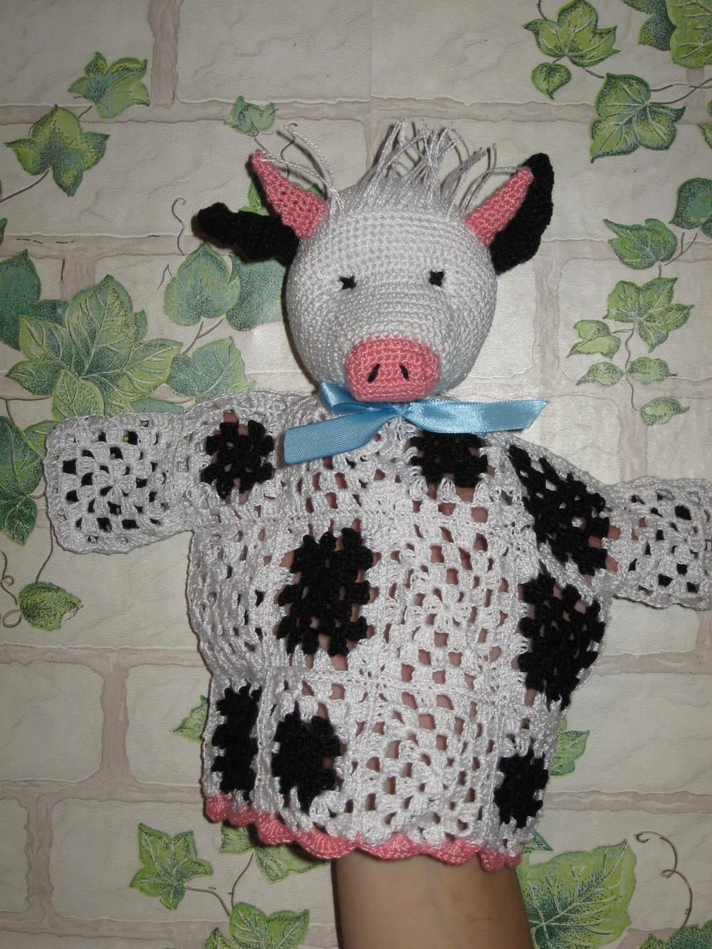Корова. Вязаные игрушки