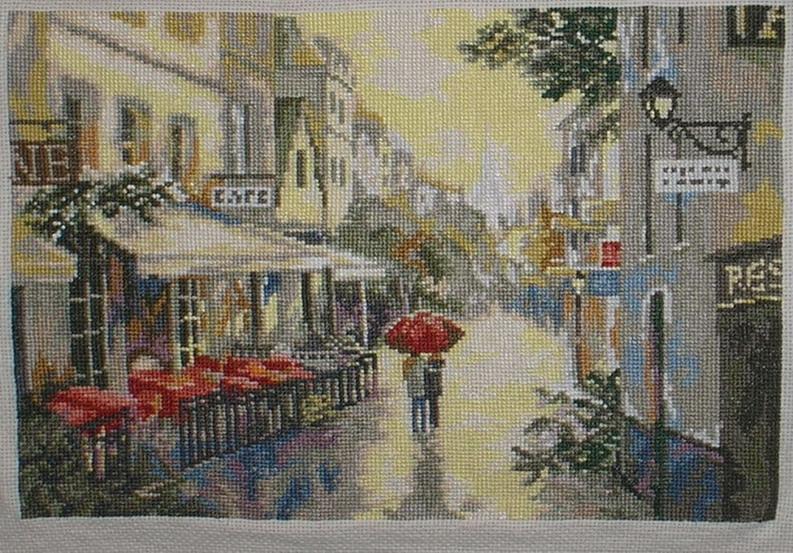 Дождливый Париж. Здания, улицы
