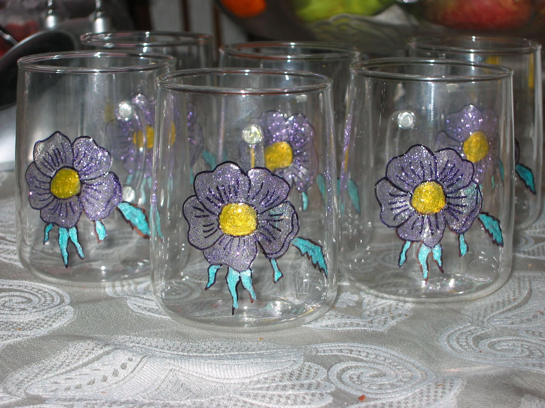 Чайные стаканы. Стекло, керамика