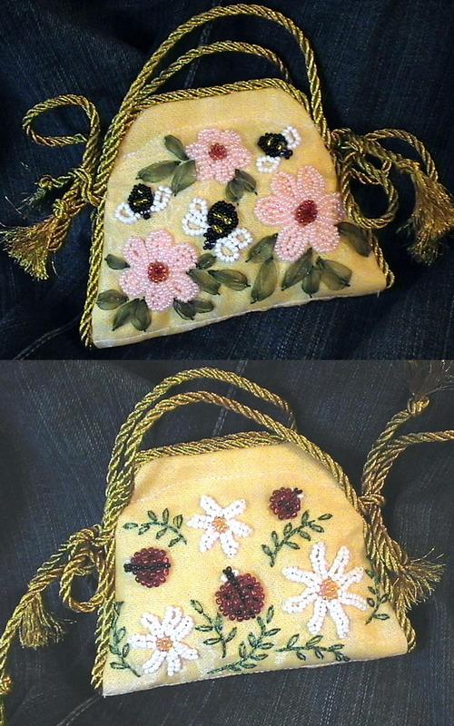 сумочка-игольница. Вышивка бисером