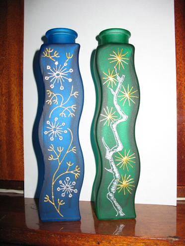 Две вазы 1. Стекло, керамика