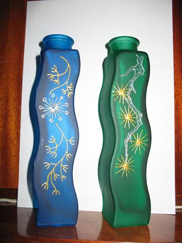 Две вазы 2. Стекло, керамика