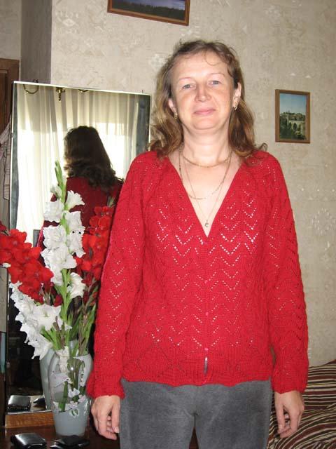 Красный ажур. Одежда