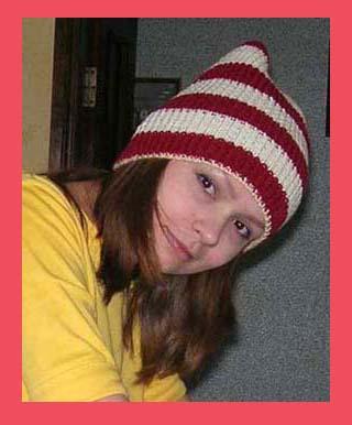Моя полосатая.. Шапки, шляпки, панамки и др.  вязаные головные уборы