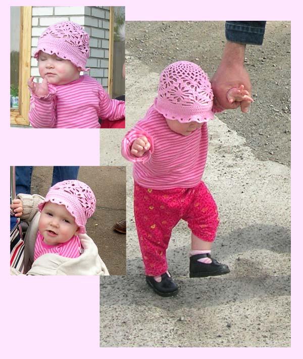 Шапка 5. Розовая любимая.. Шапки, шляпки, панамки и др.  вязаные головные уборы