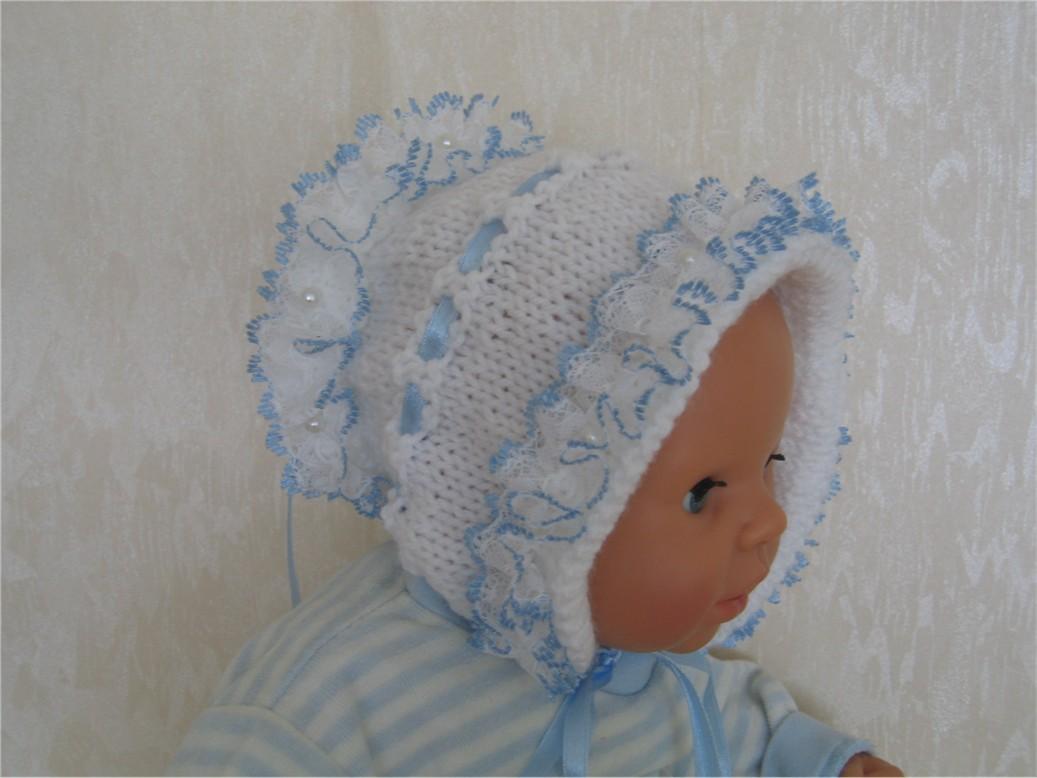 Шапочка голубая. Шапки, шляпки, панамки и др.  вязаные головные уборы
