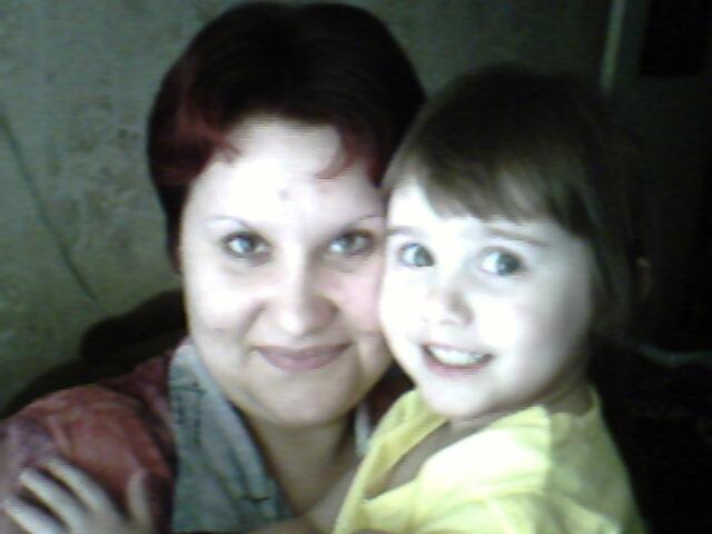 Я и доча. Вместе с мамой