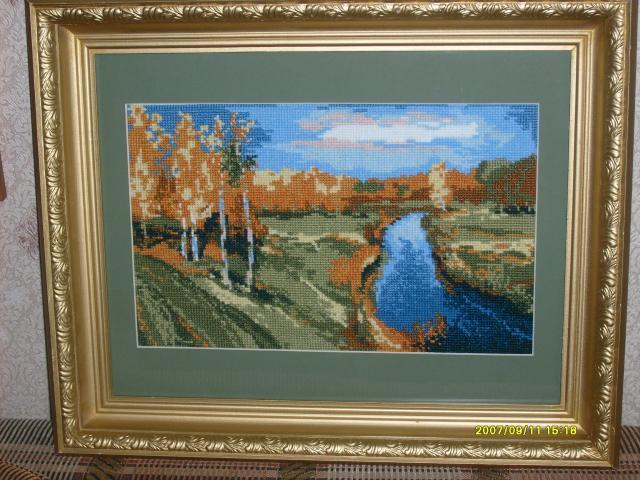 'Осень' по картине Левитана. Пейзажи