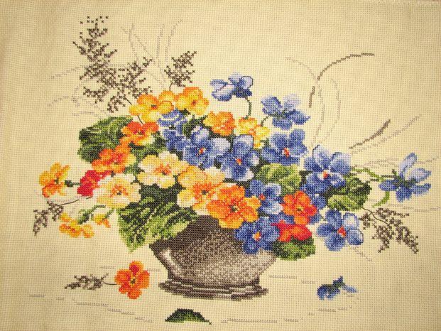 Ваза с цветами РТО. Растения (в основном цветы)