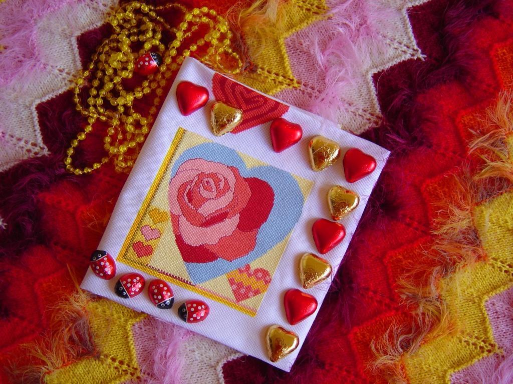 Sirdis. Вышитые валентинки