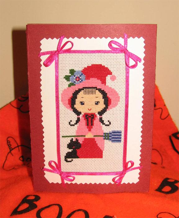 10 - автор lovebiser - для Вечерка. Хэллоуинские открытки получены