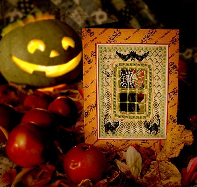 35 - автор Mercutio - для Оксиньи (Асеньки) . Хэллоуинские открытки получены
