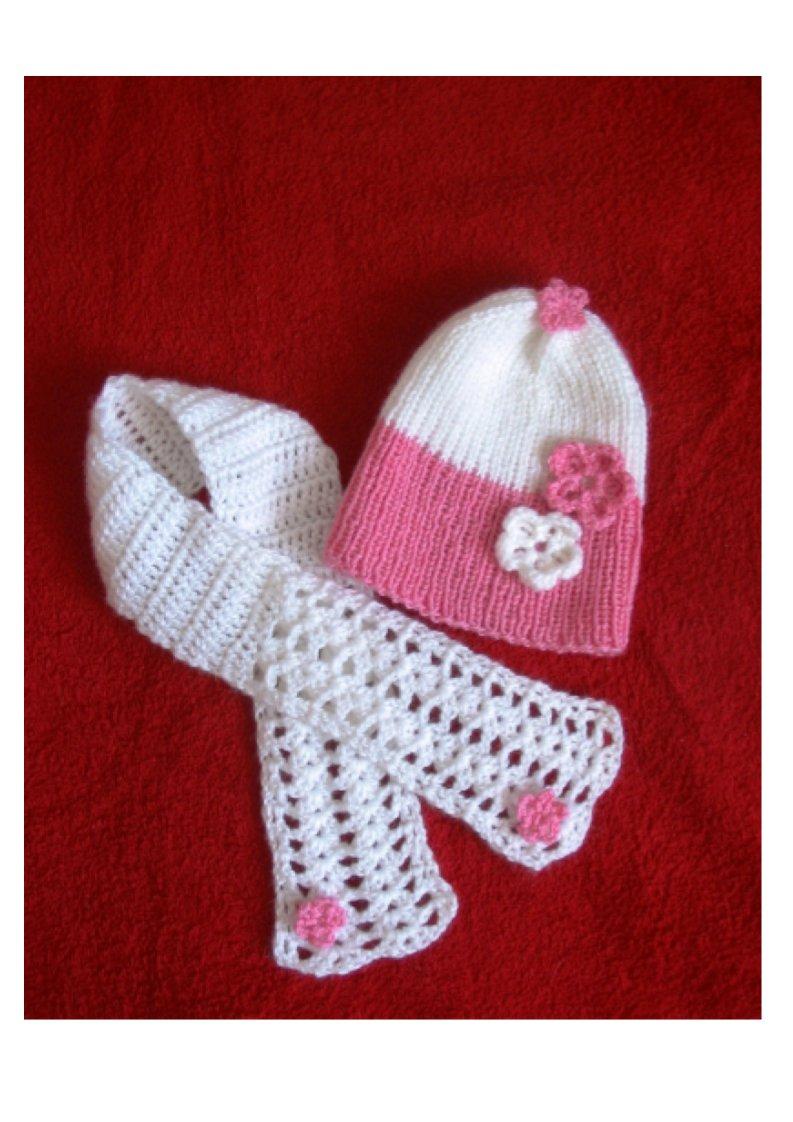 Шапочка и шарфик. Шапки, шляпки, панамки и др.  вязаные головные уборы