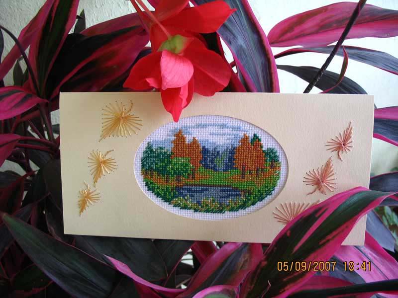 39 - автор taniv - для Lapka8. Осенние открытки получены