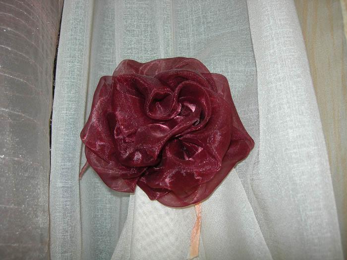 Цветок из органзы. Шторы