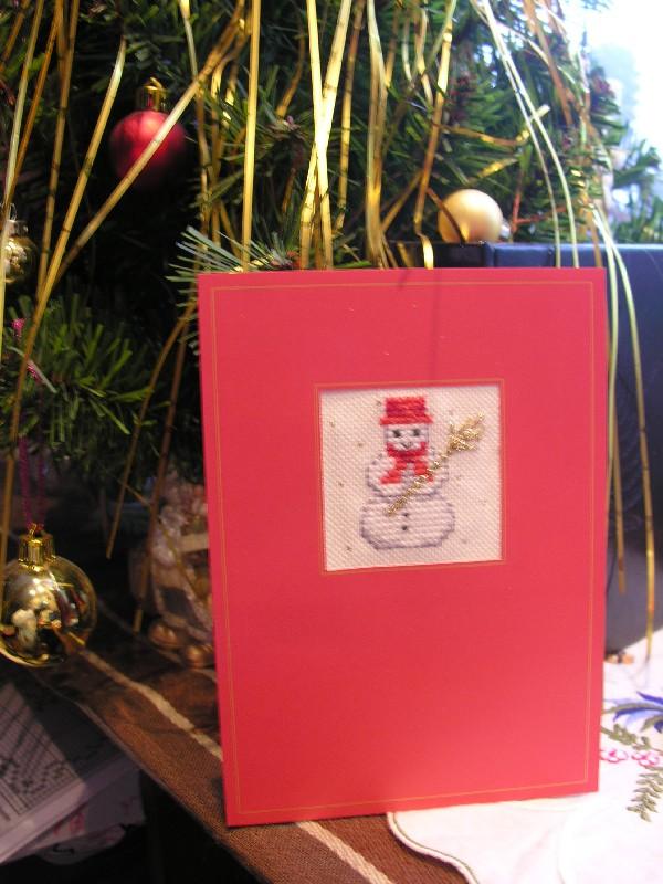 Новогодняя открытка. Вышитые открытки