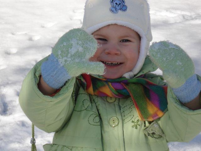 У нас в Баку первый снег. Зимние забавы