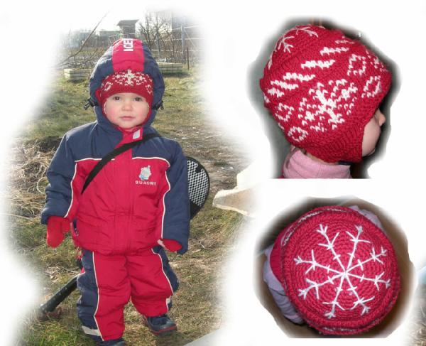Шапка 10. Зимняя норвежка. Шапки, шляпки, панамки и др.  вязаные головные уборы