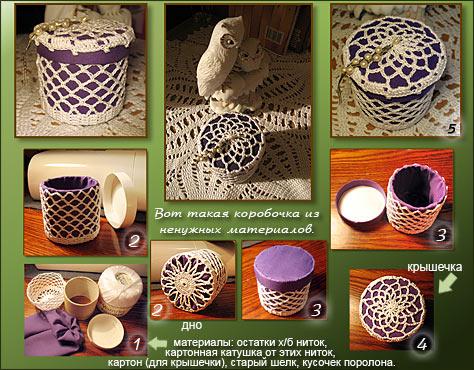 Несколько этапов создания шкатулочки. Шкатулки, корзинки для рукоделия, приспособления