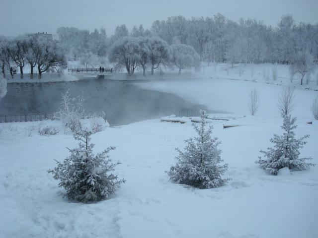 Мороз. Вятка.. Зима за окном
