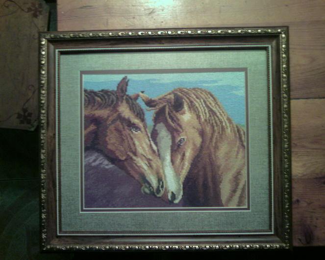 две лошади. Животные