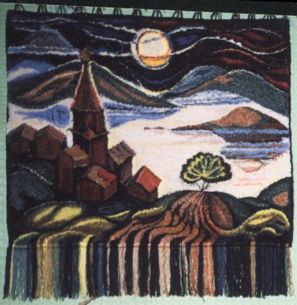'Остров Луны'150х160. Ковры, одеяла, пледы