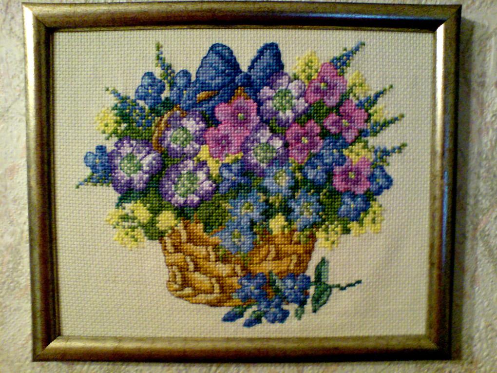 Корзина с цветами. Растения (в основном цветы)