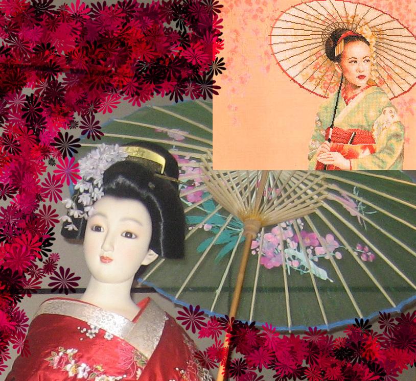 Geisha . Восток, иероглифы