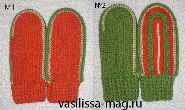 Крючочные варежки. Перчатки, варежки, носки, пинетки, обувь