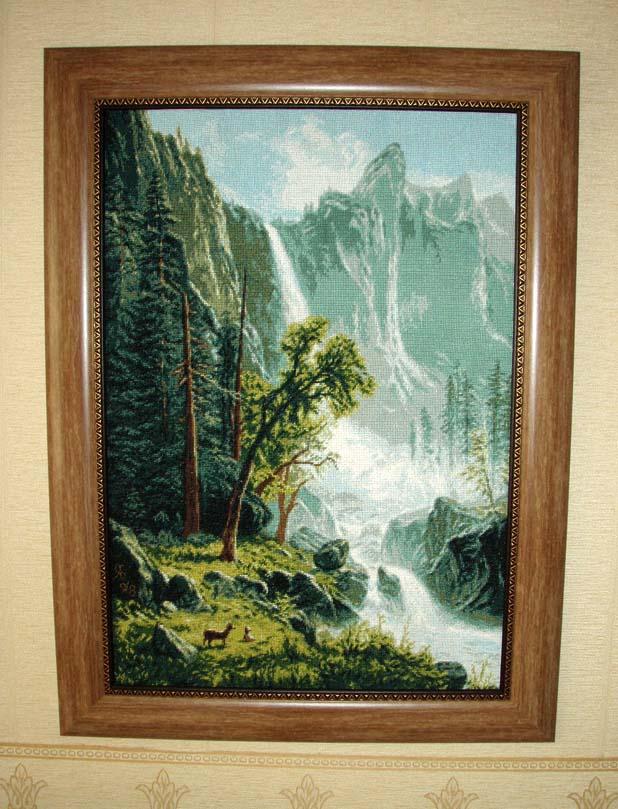 'Вид на водопад'. Пейзажи