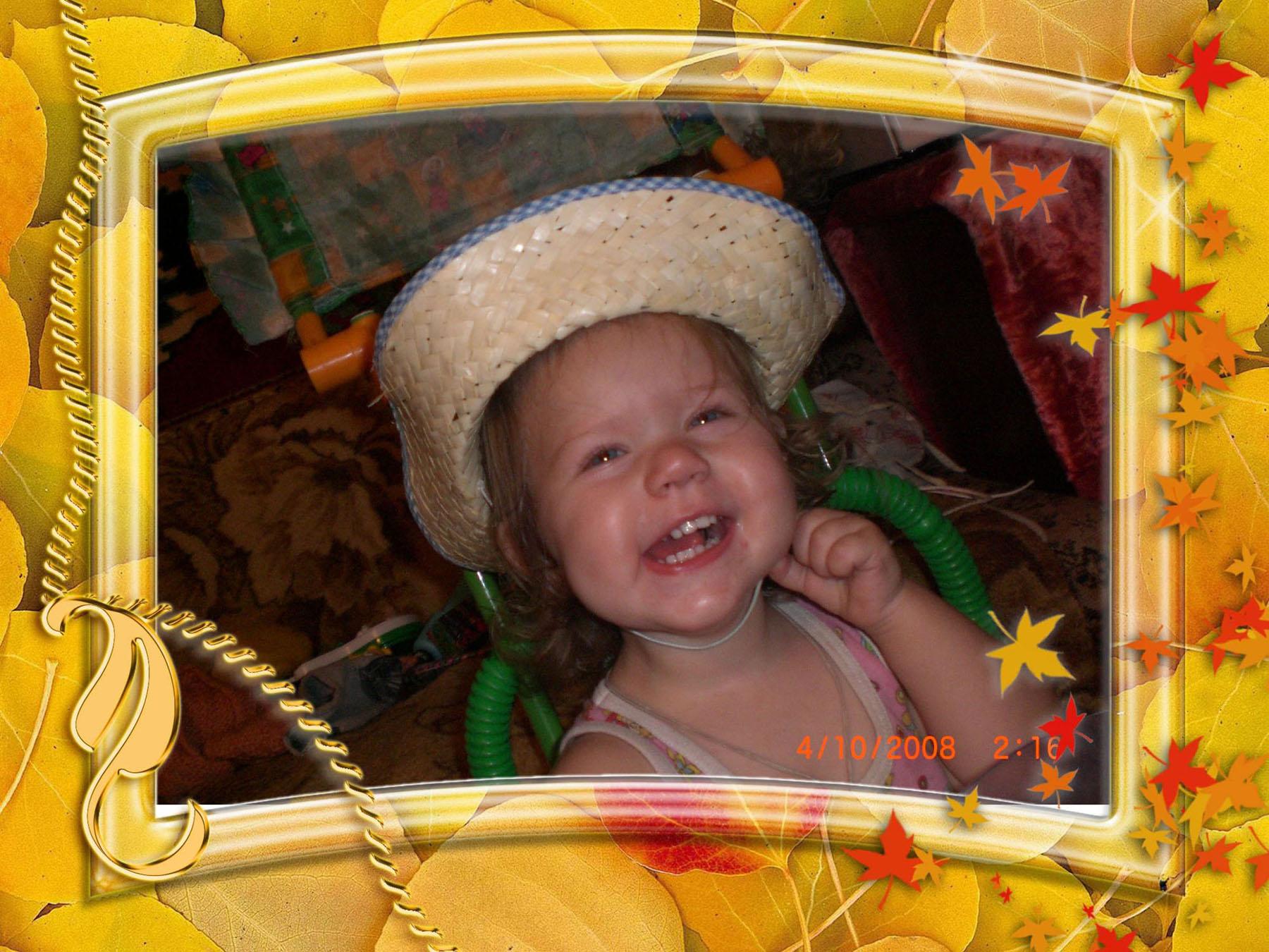 Чудо в шляпе -  на радость папе!. Фотоколлажи, обработанные фото
