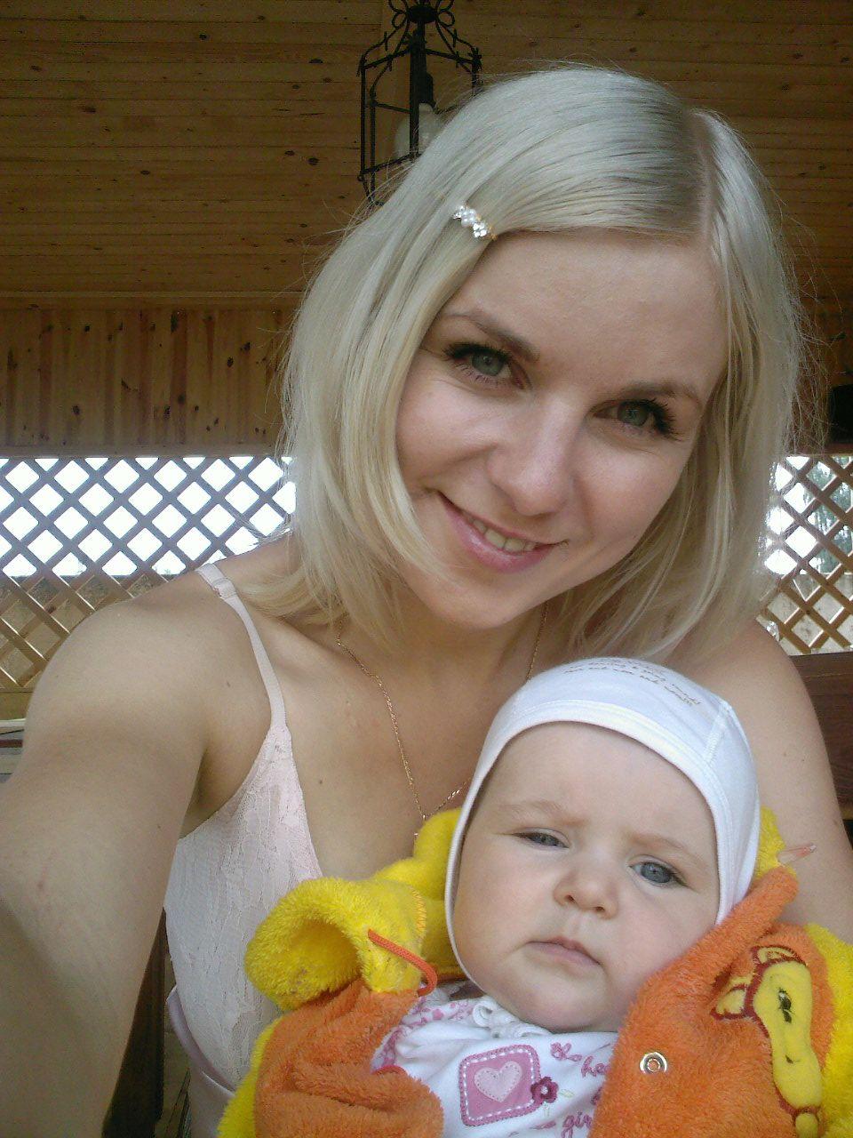 я и моя доча. Вместе с мамой