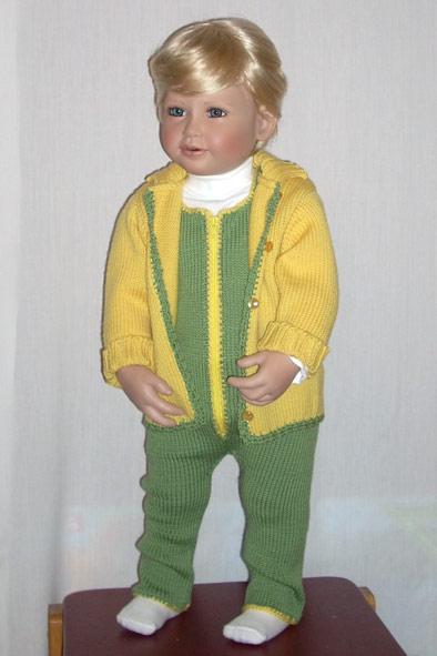 вязаный детский костюм. Одежда для детей