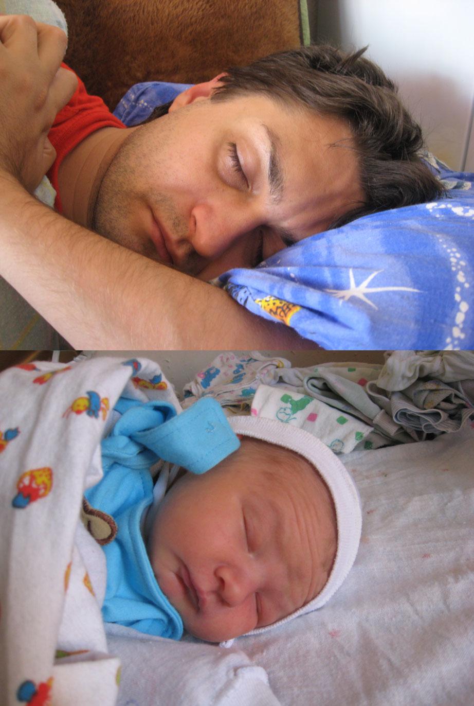 Андрюша и Данила. Спящие дети