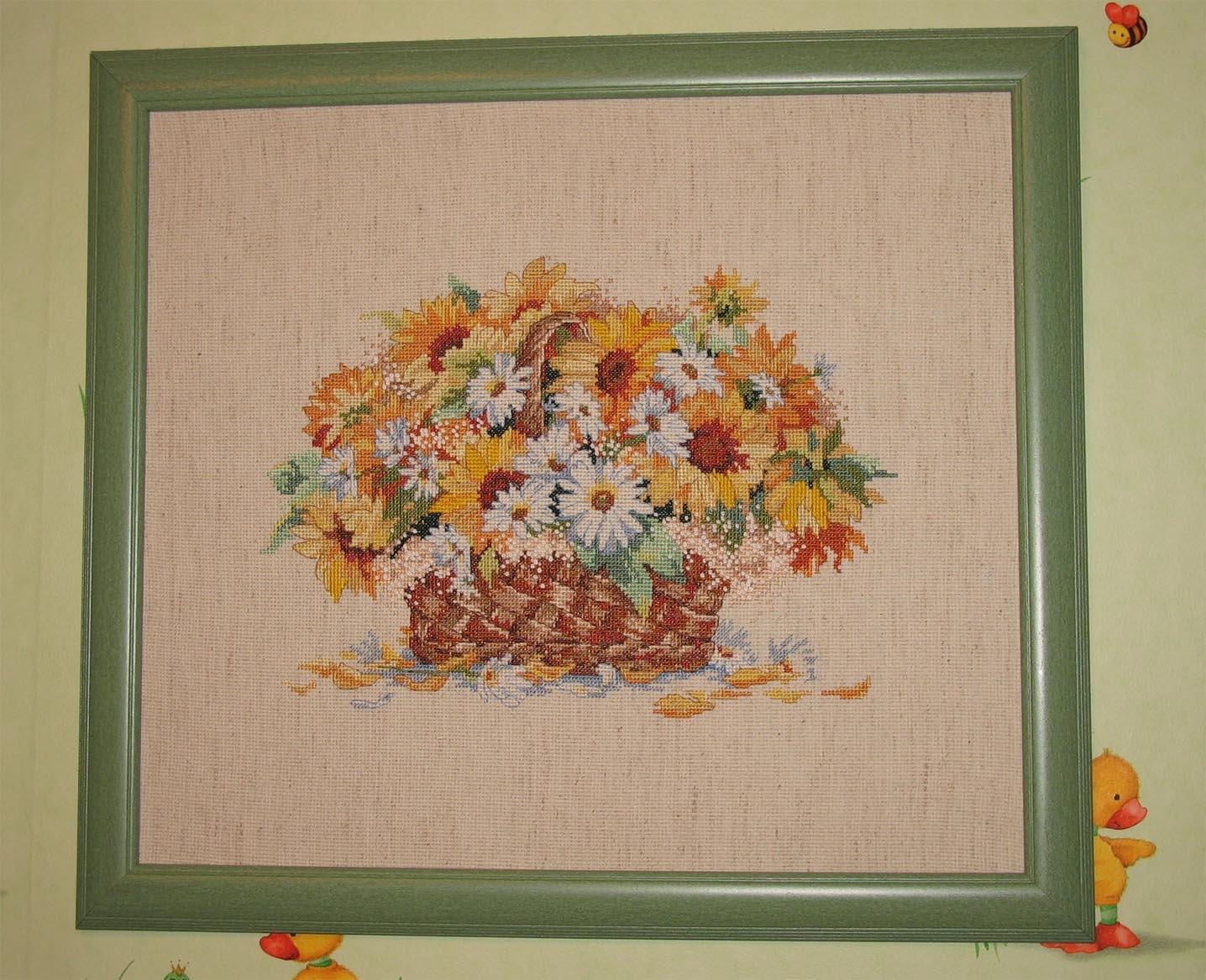 Букет подсолнухов. Растения (в основном цветы)