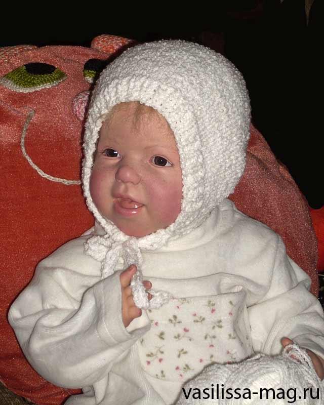 Шапка вязаная для детей. Шапки, шляпки, панамки и др.  вязаные головные уборы