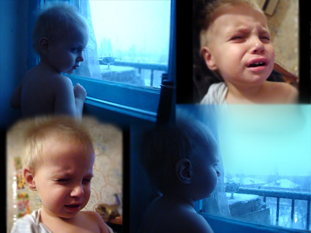 Сыночек грустит. Эмоции