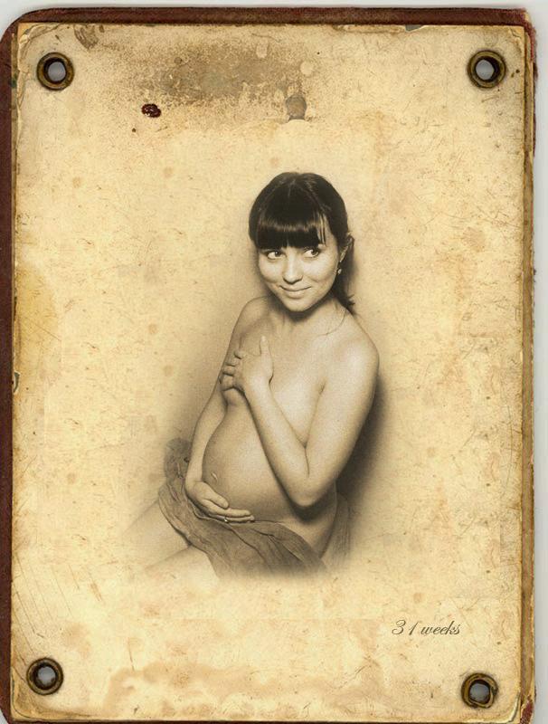 31 неделя- автор Датура. Беременный живот