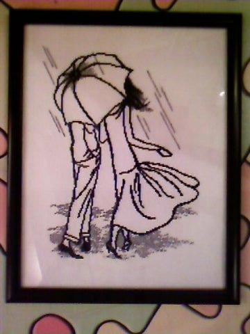 Пара под зонтом. Влюбленные пары