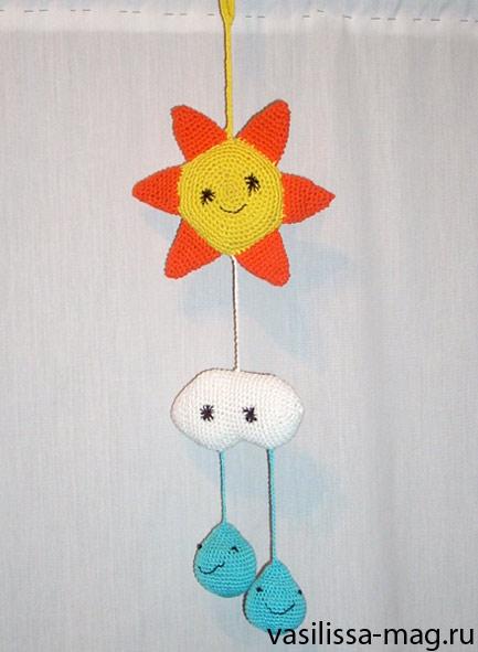 вязаные игрушки для новорожденных. Вязаные игрушки