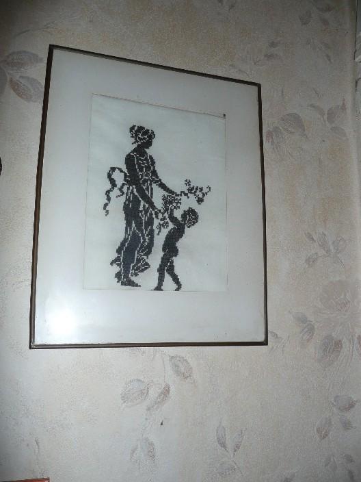 Паспарту на стене. Рукодельный конкурс 'Женские образы в рукоделии'