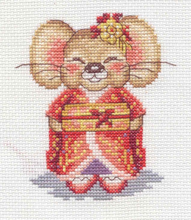 Мышка Минако (арт.Д-177). Забавные картинки