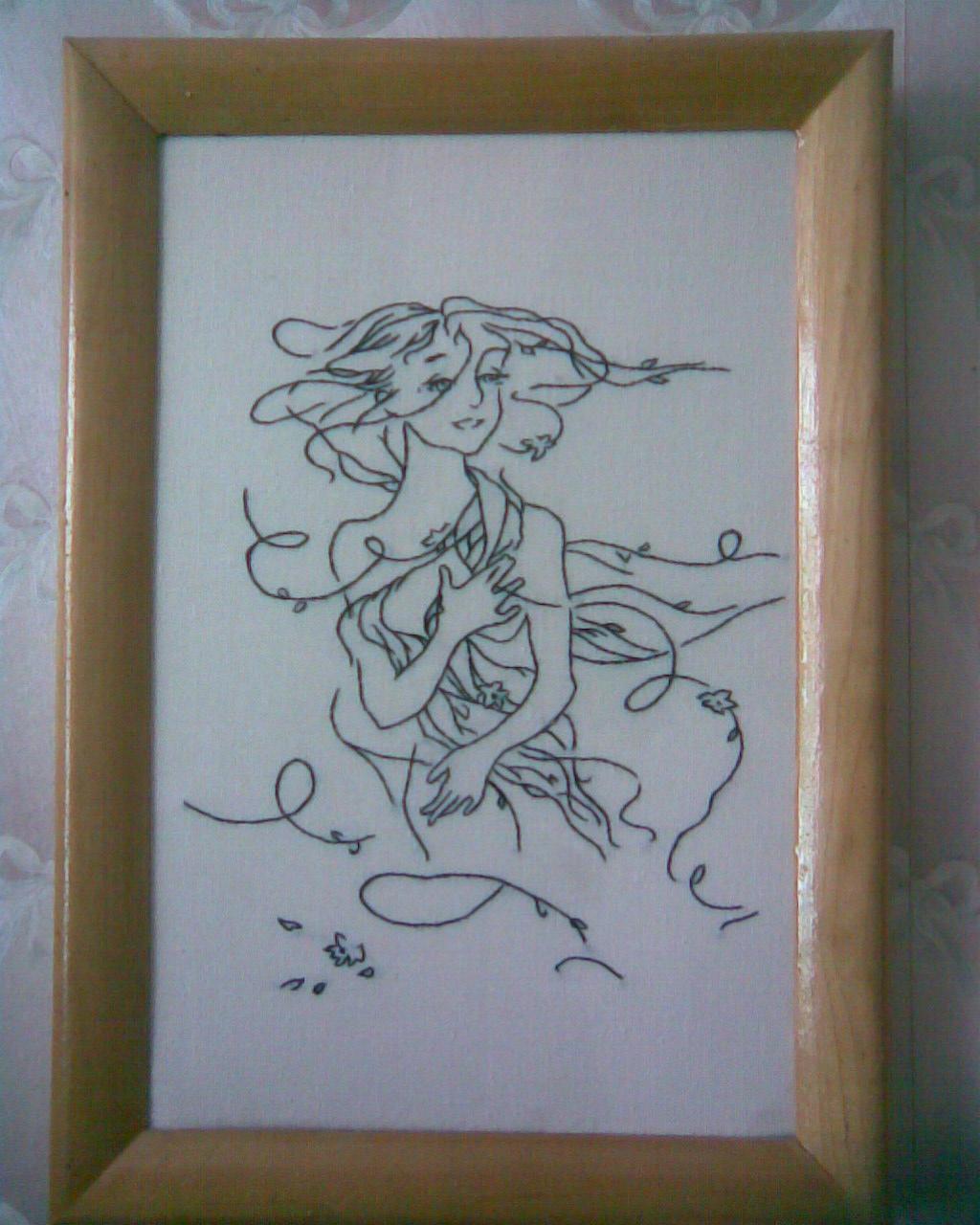 Девочка, ветер весна. Рукодельный конкурс 'Женские образы в рукоделии'