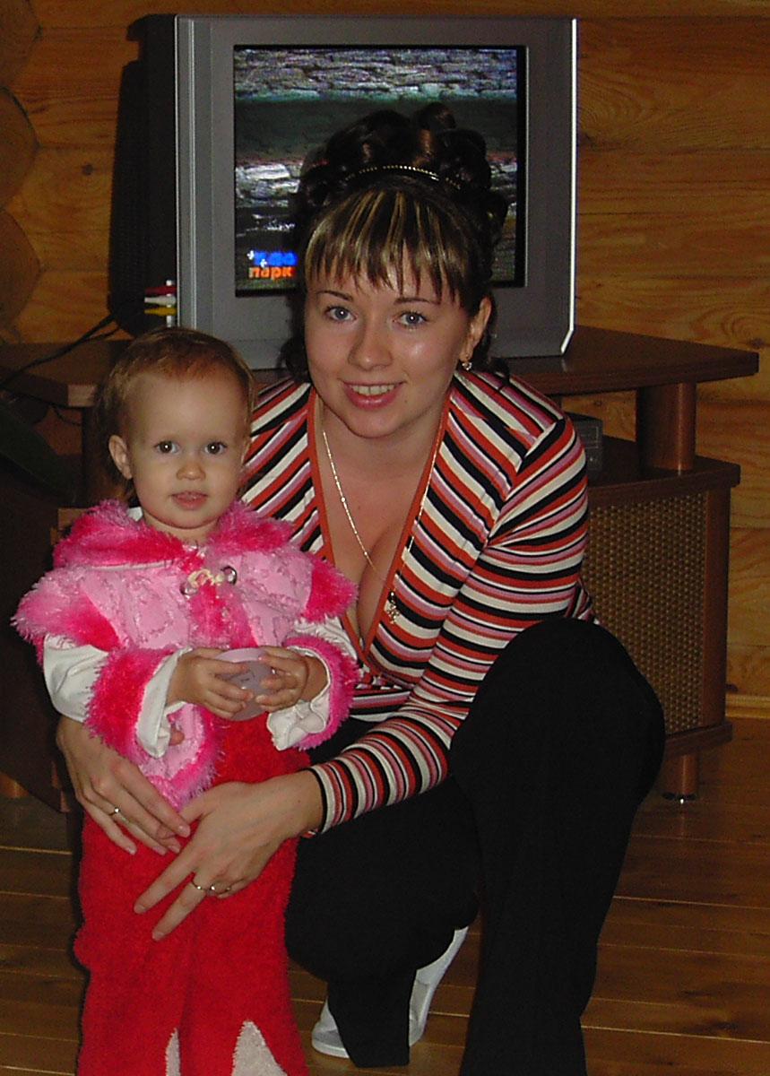 Мама Лена и доченька Юличка. Вместе с мамой