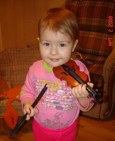 Я на скрипочке играю:'Ти-ли-ли, ти-ли,ли!'. Дети-музыканты