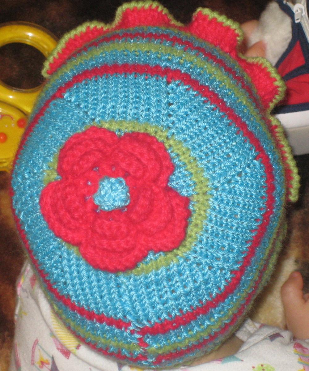 цветочек на макушке.. Одежда для детей