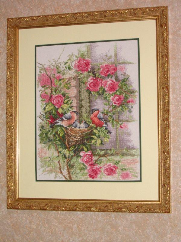 Снегири и розы, Lanarte. Растения (в основном цветы)