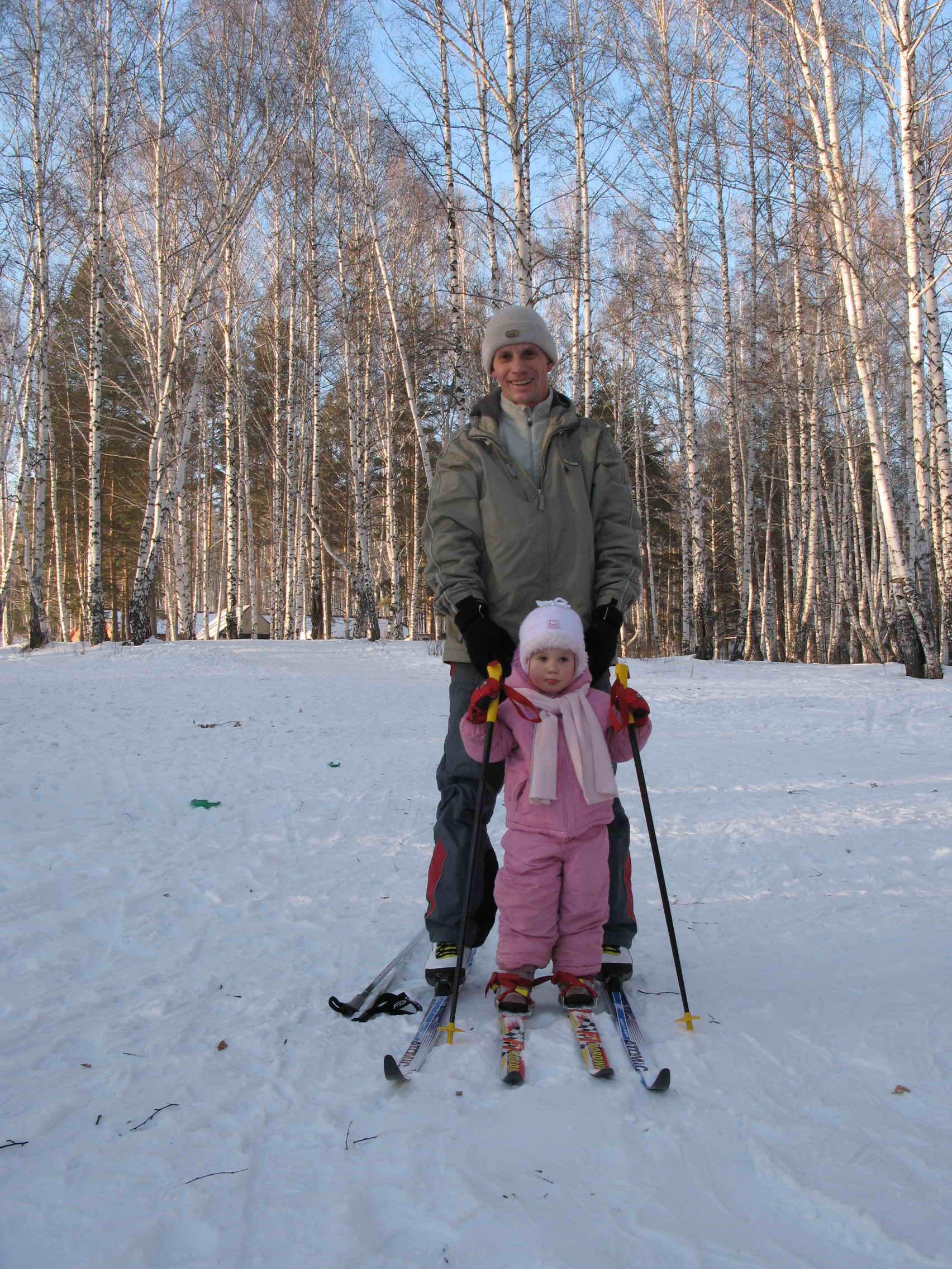 буду лыжником как папа!. Спортивная семья
