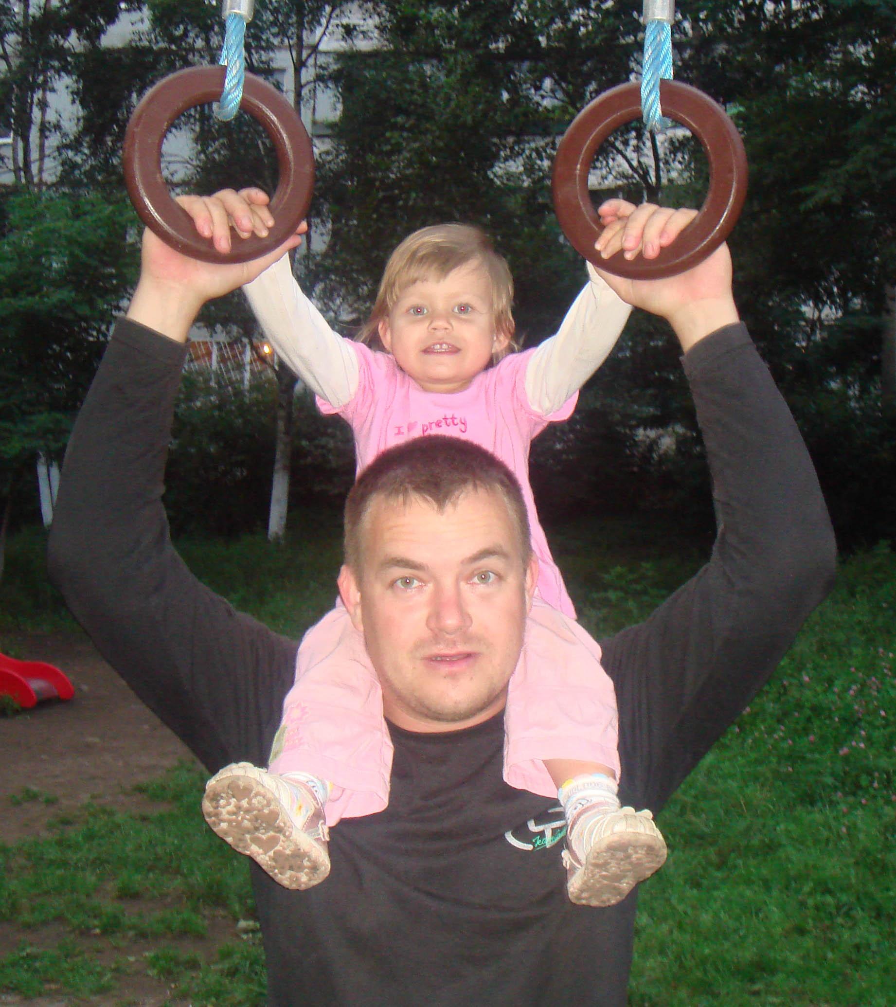 папа и я - спортивная семья. Спортивная семья