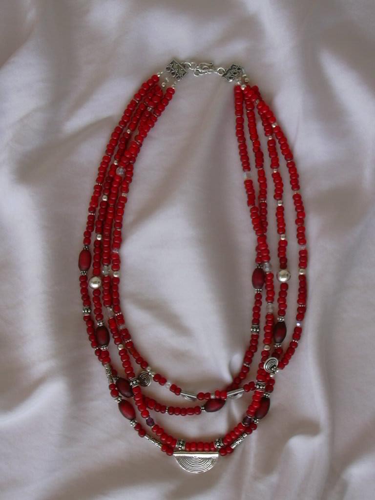 Бусы из  Samburu beads . Стекло, керамика